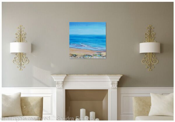 The Blue Sea in a room setting