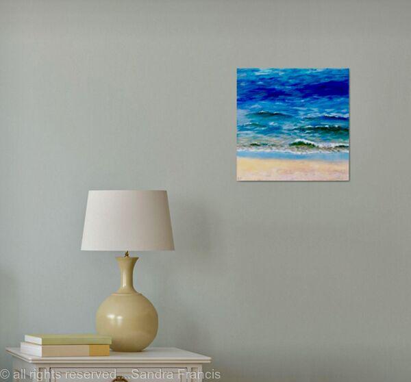 Waves onto the Sand