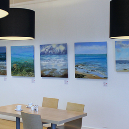 Paintings in the exhibition in situ