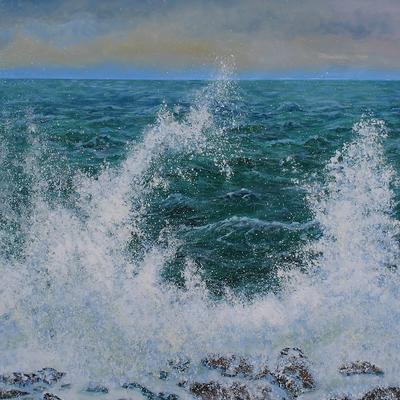 Stormy Sea Spray