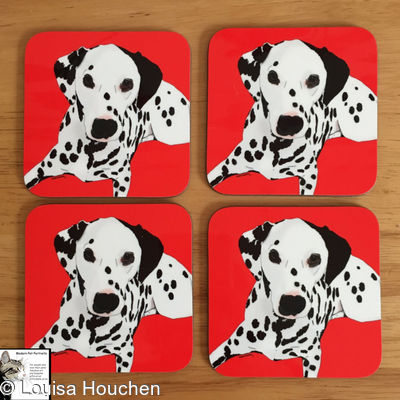 Coasters (individual or in sets) (featuring Your pet's pawtrait)
