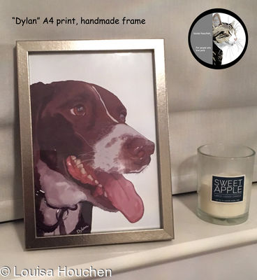 Framed A4 Print (featuring Your pet's pawtrait)