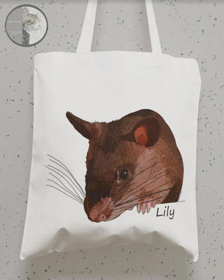 Tote Bags (various styles) (featuring Your pet's pawtrait)