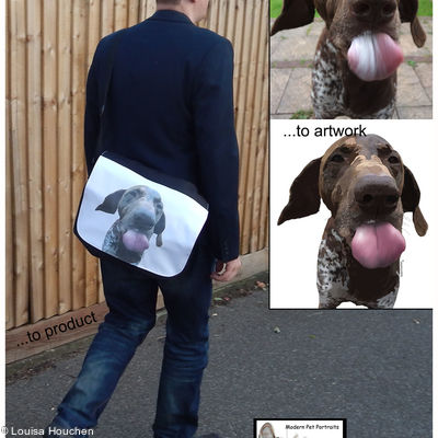 Record Bag (featuring Your pet's pawtrait)