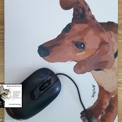 Mousemat (featuring Your pet's pawtrait)