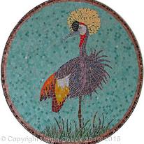 Gold Crested Crane