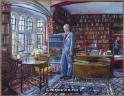 Robert Shackleton in the Bodlean library