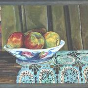 Apples on grandmothers crochet cloth