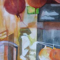 Three large lanterns - China Town