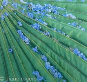 Blossom on Palm Leaf