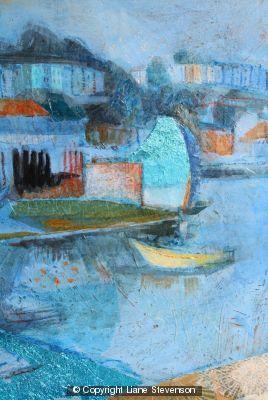 Blue Wharf, detail.