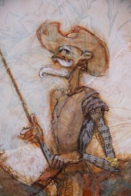 Detail of Don Quixote and Sancho Panza