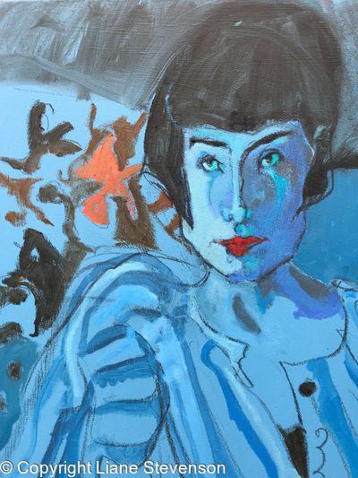 Blue Girl, detail.