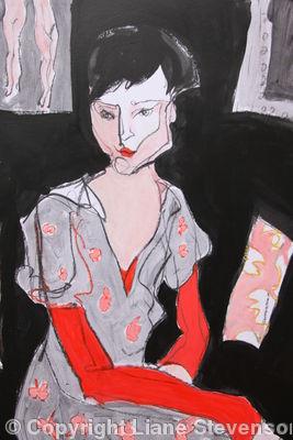 Vermilion Sleeves, detail.
