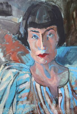 Blue Lady , detail.