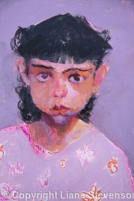 Violet Eyed Girl, detail