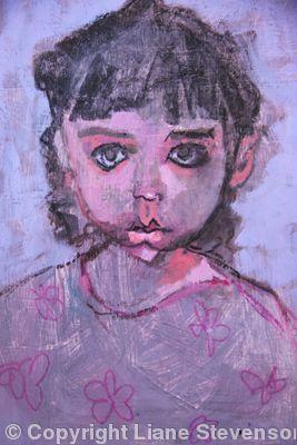 Violet Eyed Girl, detail
