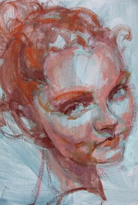 Red head; study. detail.