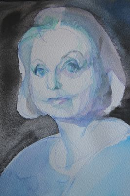 Hilary, blue