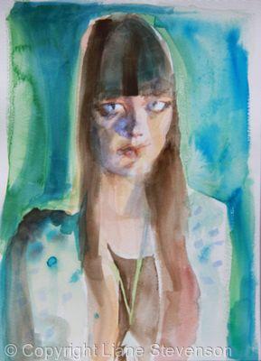 Girl , turquoise