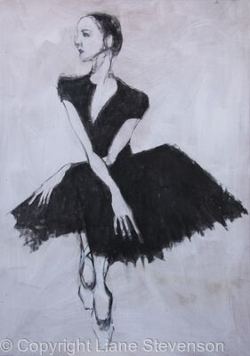 Ballerina, seated