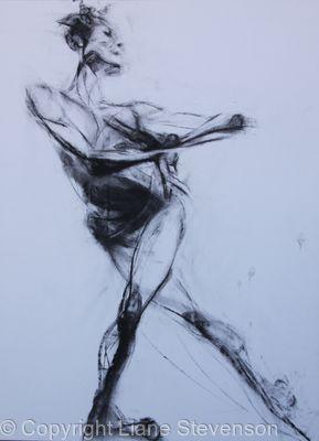 Ballerina, charcoal