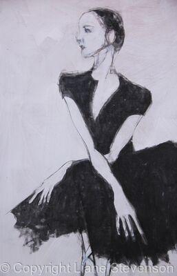 Ballerina , seated. detail
