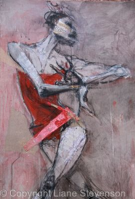 Red Dancer, detail