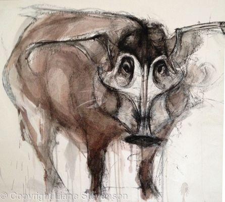Red River Hog, detail.