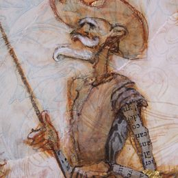 Detail of Don Quixote and Sancho Panza
