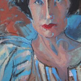 Blue Lady , detail