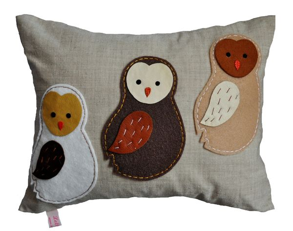 Barn Owlets Cushion Small