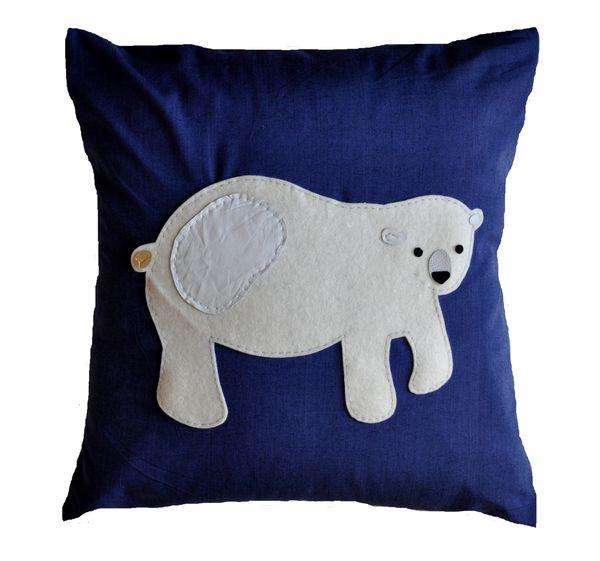 Polar Bear Cushion - Small
