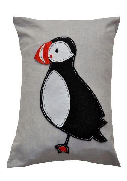 Puffin Cushion Large