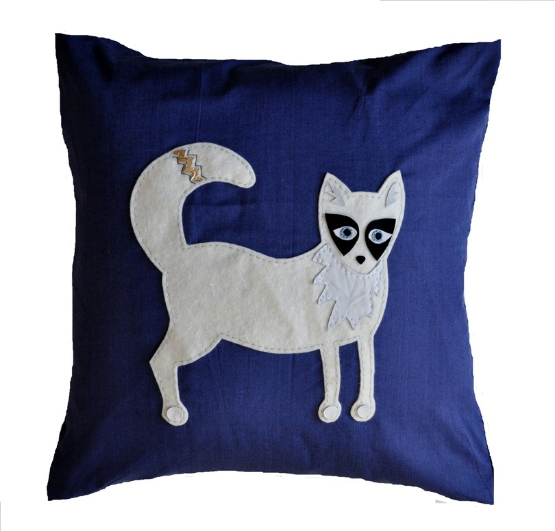 Arctic Fox Cushion - Small
