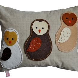 Barn Owlets Cushion