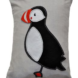 Puffin Cushion Large