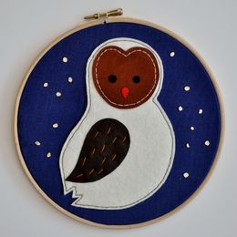 Medium Midnight Owlet Wall Adornment