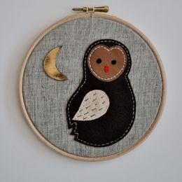 Small Midnight Owlet Wall Adorment