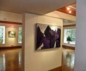 Iris Diptych at Knapp Gallery. London 2010
