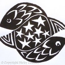 TWO FISHES    STARS (BW)