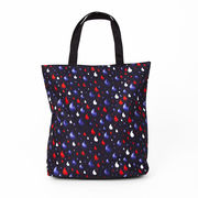 blue, red and white bag