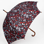 red and black umbrella