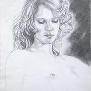 Girl In Greens Drawing II