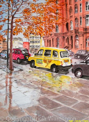 Taxis Outside The Midland