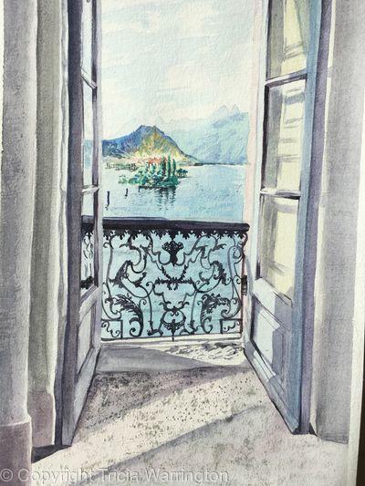 View from Villa Borromeo across Maggiore