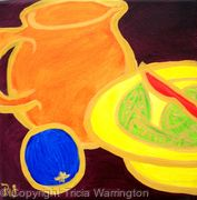 jug,bowl and fruit