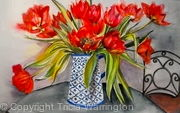Red Tulips in Jug