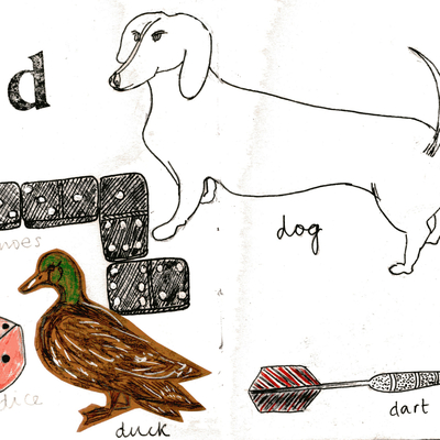 Sketchbook alphabet ideas- D