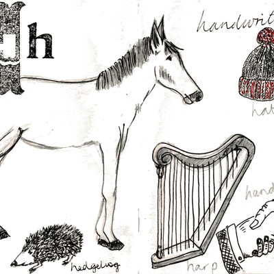 Sketchbook alphabet ideas- H